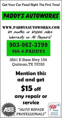 Paddys Autoworks Winnsboro