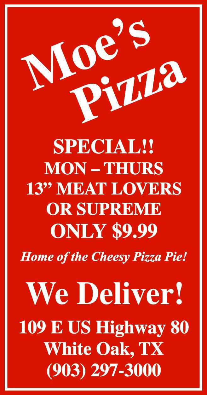 Moe's Pizza Longview