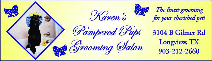 Karens Pampered Pups Banner Longview