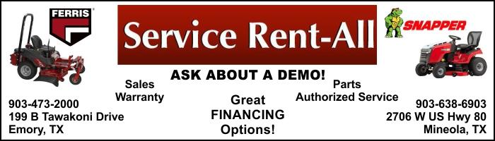 Service Rent Lake Fork