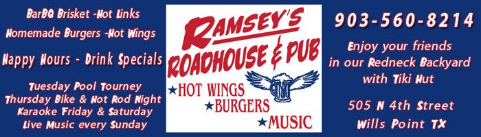 Ramseys Roadhouse Wills Point