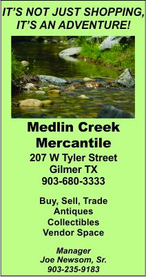 Medlin Creek Gilmer