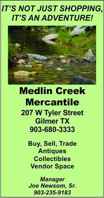 Medlin Creek Gilmer